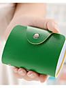 Carte de femei&Id holder pu toate anotimpurile dreptunghi fermoar maro roșu verde