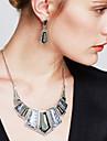 Seturi de bijuterii Cercei Picătură Coliere cu Pieptar Bijuterii Statement Vintage Piatră Preţioasă Cristal Zirconiu Cubic BijuteriiNegru
