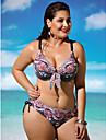 Femei Bikini Femei Cu Bretele Floral Push-up / Sutiene cu Bureți / Sutiene cu Întăritură Nailon / Spandex