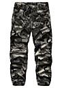 Bărbați Larg Simplu Talie Medie,Micro-elastic Pantaloni Chinos Pantaloni Mată Geometric