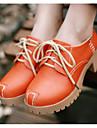 Damă Pantofi PU Primăvară Vară Confortabili Sandale Pentru Casual Portocaliu Bej Galben