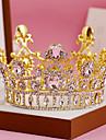 Ștras Aliaj Diadema-Nuntă Ocazie specială Zi de Naștere Party/Seara Tiare Cordeluțe 1 Bucată