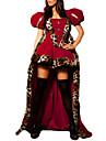 Costumes de Cosplay Costume de Soiree Princesse Conte de Fee Fete / Celebration Deguisement d\'Halloween Rouge MosaiqueRobe Chapeau