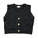 V-izrez metalni gumbi Vest ženski džemper (1002al0