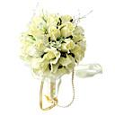 Svatební kytice Kulatý Růže Kytice Svatba Párty / večerní akce Hedvábí Žlutá
