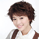 Capless Short High Quality Synthetic Brown Curly Hair Wig 0463-465