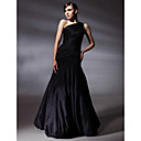 TS Couture® Prom / Formal Evening Dress - Black Plus Sizes / Petite Trumpet/Mermaid One Shoulder Floor-length Taffeta