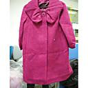 plavi nabrane rever pol rukav kaputa / ženske outerwears (FF-a-bk0997106)