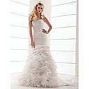 Lanting Bride® Rozevláté Drobná / Nadměrné velikosti Svatební šaty - Klasické & nadčasové Velmi dlouhá vlečka Jedno rameno Taft s