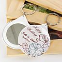 osobní zrcadlo kroužek na klíče - květiny (sada 12)