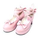 Boty Sweet Lolita Princeznovské Vysoký podpatek Boty Mašle 6.5 CM Černá / Růžová Pro Dámské PU kůže/Polyurethanová kůže