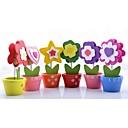 Květiny Dřevo Stojánek na jmenovky 6 svorky Umělá taška