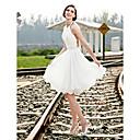 Lanting Bride® A-line / Princess Petite / Plus Sizes Wedding Dress - Chic & Modern / Reception See-Through Wedding Dresses Knee-length