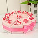 Kolač Slice kutija s ružičastim i bijelim cvjetovima (set od 10)