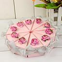 pink tortu slice box sa srebrnim lukom (set od 10)