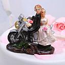 Figurky na svatební dort Klasický pár / Vozidlo Pryskyřice Svatba / Párty pro nevěstu Bílá / Černá Zahradní motiv Dárková krabička