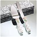 posluživanje setovi svadbena torta nož elegantan ruža dizajn smole ručicu tortu posluživanje set