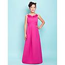 Lanting Bride® Na zem Satén Šaty pro malou družičku A-Linie / Princess Špagetová ramínka Empír s Nabírání / Květina(y) / Křížení