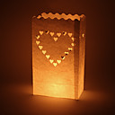 arredamento matrimonio grande cuore a forma di cut-out carta luminare