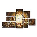 Ručně malované Abstraktní Více než pět panelů Plátno Hang-malované olejomalba For Home dekorace