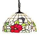60W 1 - Svjetlo Tiffany stakla viseći svjetla s leptir uzorkom