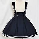koljeno duljine tinta plava pamučna jedriličar lolita suknju