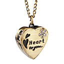 Lovely Alloy Sweet Heart Design Necklace Watch