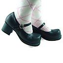 Cipele Classic/Tradicionalna Lolita Lolita Štiklu Cipele Jednobojni 4.5 CM Crn Za Žene Umjetna koža/Polyurethane Leather