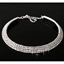 dámské vrstvené diamantový náhrdelník