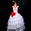 に触発さ Vocaloid Megurine Luka ビデオ ゲーム コスプレ衣装 コスプレスーツ パッチワーク ホワイト 上着