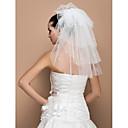 Vjenčani velovi Pet-tier Shoulder Veils Cut Edge 19.69 u (50cm) Til SlonovačaRetka, Ball haljina, princeza, Plašt / stupac, Truba /