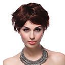 エレガントなキャップレス100%の人間の毛髪のショートブラウンヘアウィッグ