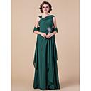 Lanting Bride® Pouzdrové Větší velikosti / Malé Šaty pro matku nevěsty - Včetně bolerka Na zem Bez rukávů Šifón - Korálky / Nabírání /