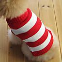 kočičky / pejsky svetry Červená Oblečení pro psy Zima Çizgi Módní / Vánoce