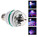 E26/E27 3 W 3 High Power LED 270 LM RGB / Color-Changing Sound-Activated Globe Bulbs AC 85-265 V