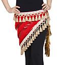 dancewear velluto con paillettes / prestazioni nappe del ventre danza hip sciarpa per le signore colori più