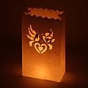 結婚式の装飾の鳩カットアウト紙光る(4個セット)