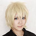Cosplay Wigs Izvan granice Konoe Zlatna Short Anime / Video Igre Cosplay Wigs 30 CM Otporna na toplinu vlakna Male