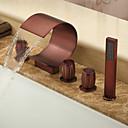 ulje utrljava bronca slap raširena kada slavina s ručnim tušem (zaobljeni dizajn oblik)