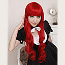 Cosplay Wigs Cosplay Tomochika Shibuya Crvena Long Anime / Video Igre Cosplay Wigs 80 CM Otporna na toplinu vlakna Female