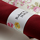 Personalized Paper Napkin Ring - Sweet Flower (Set of 50)
