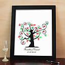 Personalized Fingerprint Painting Canvas Prints - Tree Design (Includes 6 Ink Colors And Frame)