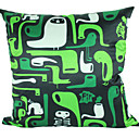 crtić bird zelenu poliestera dekorativne jastuk poklopac