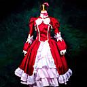 Inspirirana Crna Butler Elizabeta Anime Cosplay Kostimi Cosplay Suits / Dresses Kolaž Crvena Dugi rukavHaljina / Traka za kosu / Shawl /