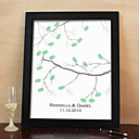 Personalized Fingerprint Painting Canvas Prints - Branch (Includes 6 Ink Colors And Frame)