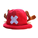 Hat/Cap Inspirirana One Piece Tony Tony Chopper Anime Cosplay Pribor Kratki / Šešir Crvena Polar Fleece Male