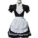 Jednodílné/Šaty Sweet Lolita Lolita Cosplay Lolita šaty Bílá / Černá Patchwork Krátké rukávy Short Length Šaty / Nákrčník / Zástěra Pro