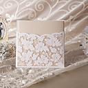 """Non-personalizaton Zamotajte & Pocket Vjenčanje Pozivnice Pozivnice-50 Piece / Set Flora Style Pearl papira 6 """"x 6"""" (15 * 15cm)"""