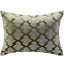 ベージュ幾何学模様ジャガード装飾枕カバー