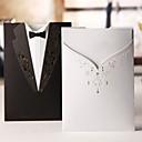 svatební oznámení classic šaty a oblek na jinou stranu (sada 50)